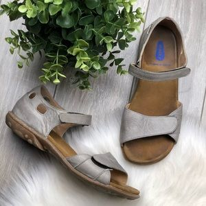 WOLKY GREY METALIC Comfort Sandals ✨